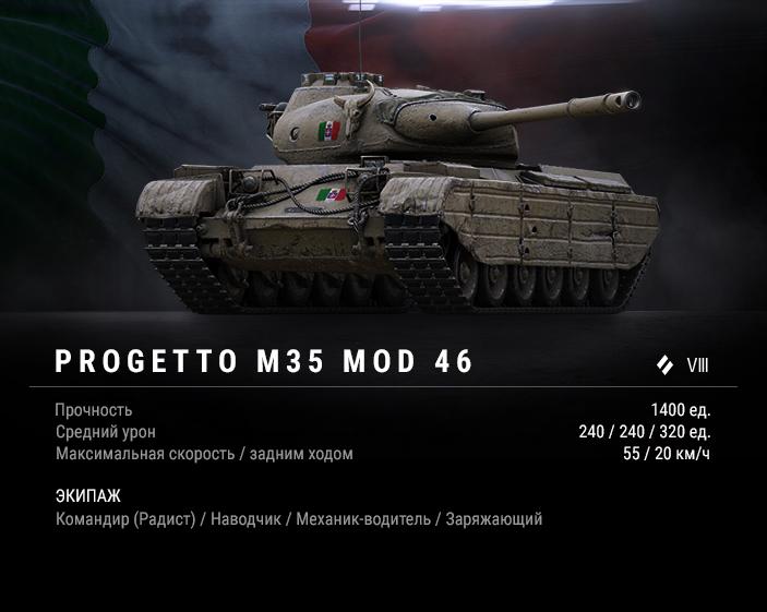 Как играть на Progetto M35 mod 46?